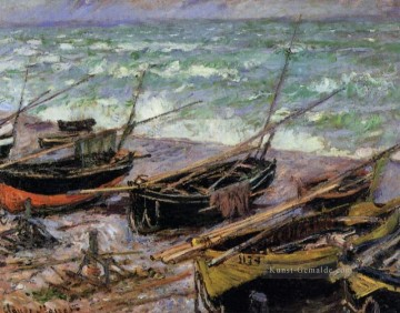 monet seerosen Ölbilder verkaufen - Fishing Boats Claude Monet
