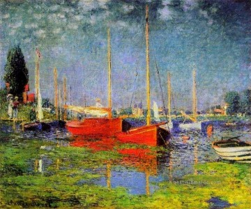 monet seerosen Ölbilder verkaufen - Pleasure Boats at Argenteuil Claude Monet