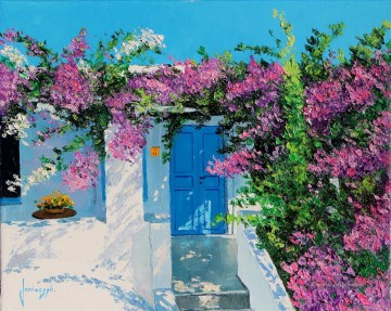 Garten Werke - Blue door in Greece Garten