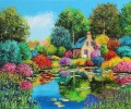 Flowered pond Garten