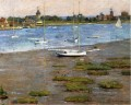 The Anchorage Cos Cob Impressionismus Boot Theodore Robinson Landschaft