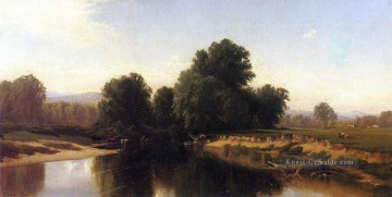 River Galerie - Vieh durch den Fluss modernen Strand Alfred Thompson Bricher Landschaft