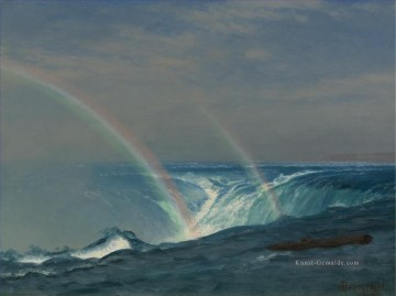 the annunciation 1785 Ölbilder verkaufen - HOME OF THE RAINBOW HORSESHOE FALLS NIAGARA Amerikanischer Albert Bierstadt Wasserfall