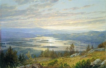 Hill Kunst - See Squam Von Red Hill Szenerie William Trost Richards Landschaft