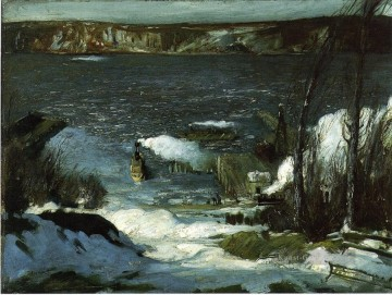 Teich See Wassfall Werke - North Niet Landschaft George Wesley Bellows