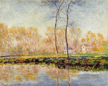 Teich See Wassfall Werke - The Banks of the River Epte at Giverny Claude Monet Landschaft