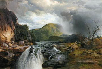 Teich See Wassfall Werke - The Wilds von See Superior Landschaft Thomas Moran