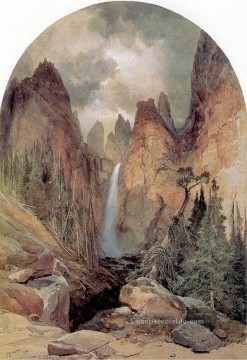 Tower Falls Landschaft Thomas Moran Ölgemälde