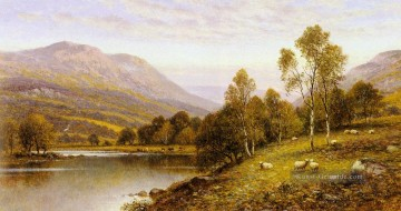 Teich See Wassfall Werke - Early Evening Cumbria Landschaft Alfred Glendening