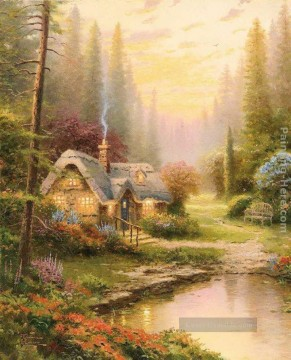 Meadowood Cottage Thomas Kinkade Landschaft Ölgemälde