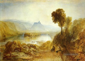 Prudhoe Schloss Northumberland Romantische Landschaft Joseph Mallord William Turner Ölgemälde