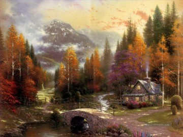The Valley Of Peace Thomas Kinkade Landschaft Ölgemälde