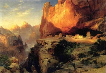 Berg Werke - Cliff Dwellers Landschaft Thomas Moran