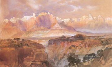 Berg Werke - Klippen of Rio Virgin Süd Utah Landschaft Thomas Moran