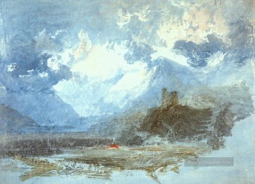 Dolbadern Schloss 1799 Romantische Landschaft Joseph Mallord William Turner Berg Ölgemälde