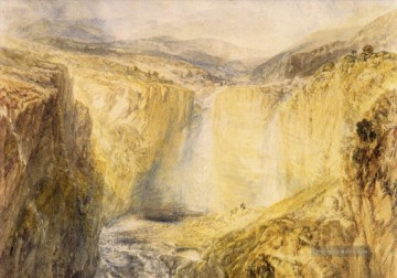 Fall des Tees Yorkshire Romantische Landschaft Joseph Mallord William Turner berg Ölgemälde