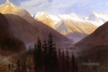 Berg Werke - Sunrise at Glacier Station Albert Bierstadt Berg