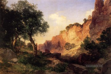 der Grand Canyon Hance Trail Landschaft Thomas Moran Berge Ölgemälde