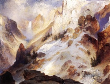 Yellowstone Canyon Landschaft Thomas Moran Berge Ölgemälde