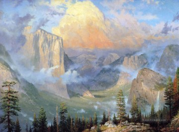 Berg Werke - Yosemite Valley Thomas Kinkade Berge Landschaften