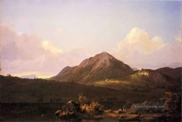 Berg Werke - Camp Fire in the Maine Wilderness scenery Hudson River Frederic Edwin Church Berg
