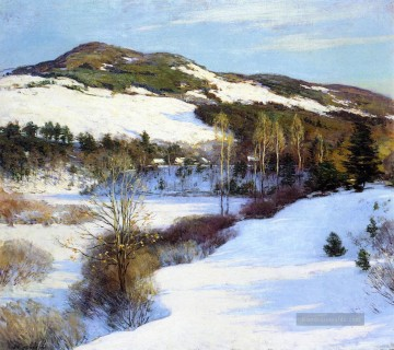 Cornish Hills Szenerie Willard Leroy Metcalf Berg Ölgemälde