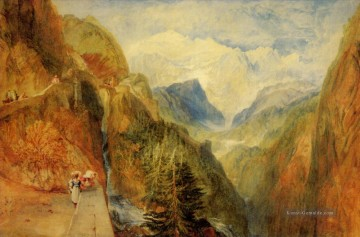 Berg Werke - Mont Blanc from Fort Roch Val dAosta Romantic Landschaft Joseph Mallord William Turner Berg