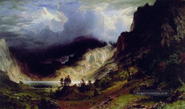 Berg Werke - Storm in the Rocky Berge Albert Bierstadt