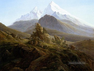 Berg Werke - The Watzmann Romantic Landschaft Caspar David Friedrich Berg
