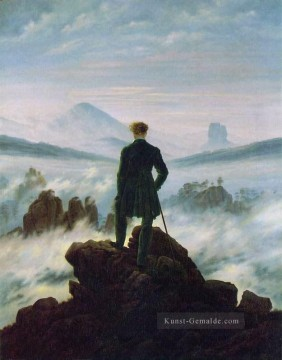 Berg Werke - Wanderer above the Sea of Fog HSE Romantic Landschaft Caspar David Friedrich Berg