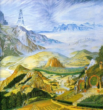 Berg Werke - garlands of fantasy middle earth tolkiens Landschaft 2 Berg