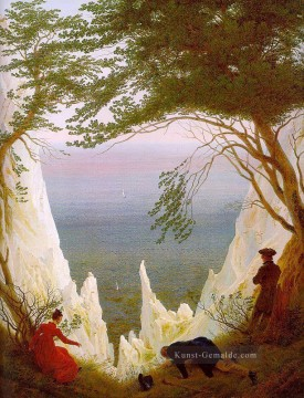 Berg Werke - Chalk Cliffs on Rugen Romantic Landschaft Caspar David Friedrich Berg
