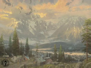 Great North Thomas Kinkade Berge Landschaften Ölgemälde