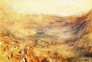 Berg Werke - The Brunig Pass from Meringen Romantic Landschaft Joseph Mallord William Turner Berg