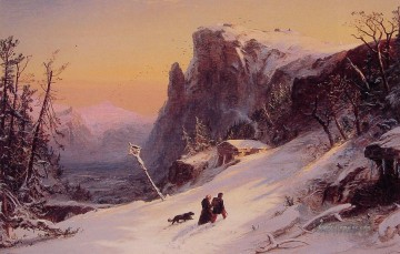 Berg Werke - Winter in Switzerland Landschaft Jasper Francis Cropsey Berg
