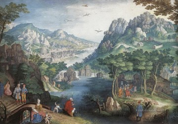 Berg Werke - Berglandschaft with River Valley and the Prophet Hosea