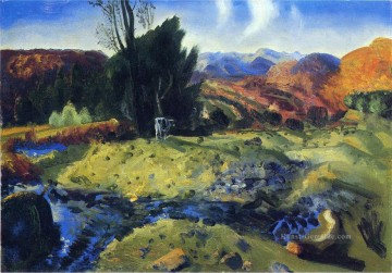Bellows Kunst - Herbst Brook Landschaft George Wesley Bellows
