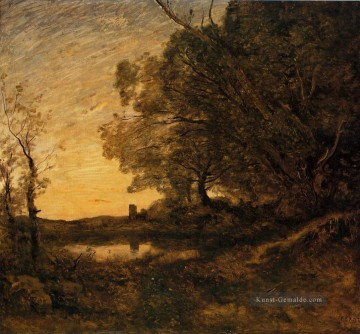 jean maler - Abend Distant Turm Jean Baptiste Camille Corot