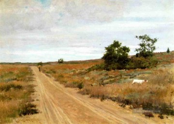 Hill Kunst - Jagd Spiel in Shinnecock Hills Impressionismus William Merritt Chase Szenerie