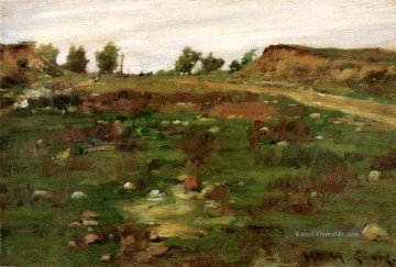 Hill Kunst - Shinnecock Hills 1895 Impressionismus William Merritt Chase Szenerie