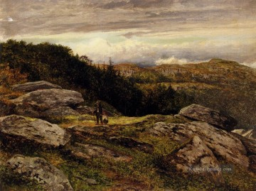 Hill Kunst - Ein Welsh Hillside Path Landschaft Benjamin Williams Führer
