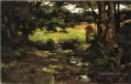 Brook in Woods Impressionist Indiana Landschaften Theodore Clement Steele