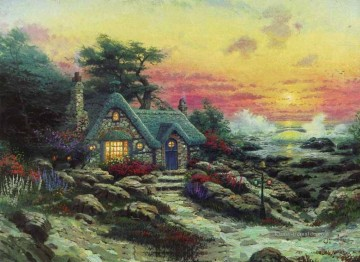 Cottage Galerie - Cottage By The Sea Thomas Kinkade Szenerie