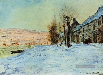 monet seerosen Ölbilder verkaufen - Lavacourt Sun and Snow Monet