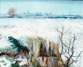 Snowy Landschaft with Arles in the Background 2 Vincent van Gogh