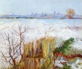 Snowy Landschaft with Arles in the Background Vincent van Gogh
