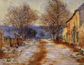 Snow Effect at Falaise Monet