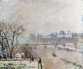 the seine viewed from the pont neuf snow 1902 Camille Pissarro