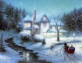 Mondn Sleigh Ride Thomas Kinkade Winter