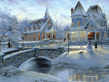 Landschaft im Schnee Werke - Home for Christmas Robert F Winter